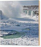 Niagara Falls Frozen  II Wood Print