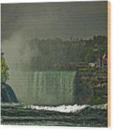 Niagara Falls In Autumn Wood Print