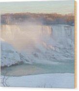 Niagara Falls In Wintertime Wood Print