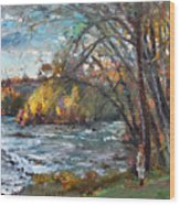 Niagara Falls Lake Wood Print