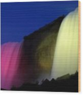 Niagara Falls Nightly Illumination Wood Print