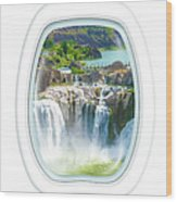 Niagara Falls Porthole Windows Wood Print