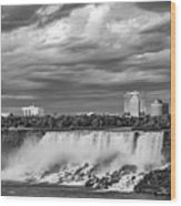 Niagara Falls - The American Side 3 Bw Wood Print