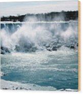 Niagara Falls Winter Wood Print