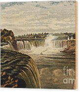 Niagara Falls With Rainbow, 1860 Wood Print