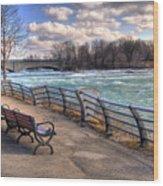 Niagara Rapids In Early Spring Wood Print
