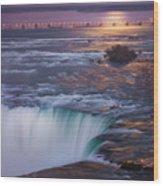 Niagara Reflections Wood Print