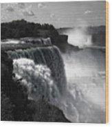 Niagara's Fury Wood Print