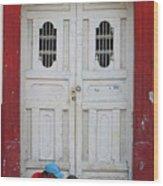 Nicaragua Door 1 Wood Print