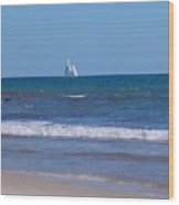 Nice Day For A Sail Wood Print