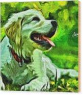 Nice Dog Wood Print