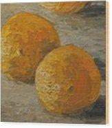 Nice Oranges Wood Print