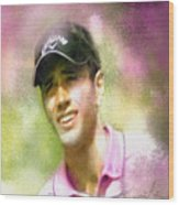 Nick Dougherty In The Golf Trophee Hassan II In Morocco Wood Print