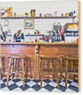 Nick's Diner Wood Print