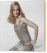 Nicole Kidman Wood Print