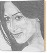 Nicole Scherzinger Wood Print
