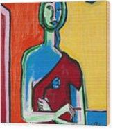 Nicotine Rose 36x24 Wood Print