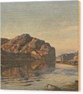 Nielsen, Amaldus Clarin 1838-1932 Morning, Ny-hellesund 1909 Wood Print