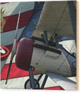Nieuport 28c Hat In The Ring Wood Print