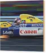 Nigel Mansell Williams Fw14b Wood Print by David Kyte