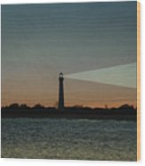 Night At Cape May Lighthouse Wood Print