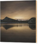 Night At Cawfields Wood Print