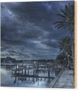 Night At The Bayou Wood Print