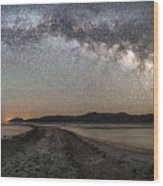 Night In The Black Rock Desert Wood Print
