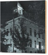 Night At The Court House Wood Print