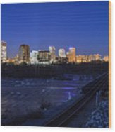 Night At The Floodwall 2 Wood Print