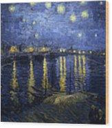 Night At The Lake Wood Print