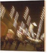 Night At The Mall Wood Print by Ben and Raisa Gertsberg