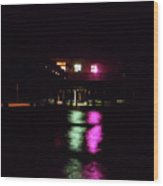 Night At The Pier 60 Wood Print
