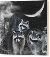 Night Bandits Wood Print