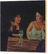 Night Bar Wood Print