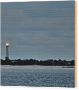 Night Beacon - Cape May Lighthouse Wood Print