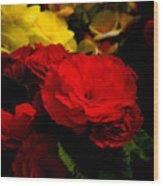 Night Begonias Five Wood Print