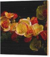 Night Begonias Two Wood Print