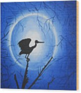 Night Bird Wood Print