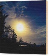 Night Blue Sky Delight.. Wood Print