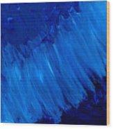 Night Blues Wood Print