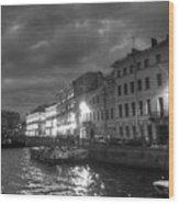Night City Peterburg Wood Print