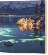 Night Dive - Lake Tahoe Wood Print