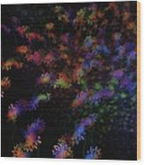 Night Flowers Wood Print