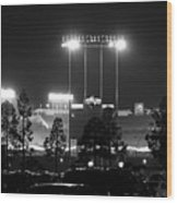 Night Game Wood Print