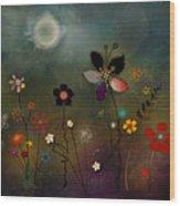 Night Garden Wood Print