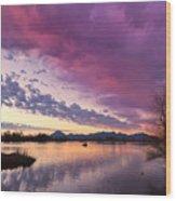 Night Gives Way To Dawn Wood Print