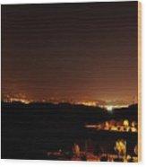 Night Glow Wood Print
