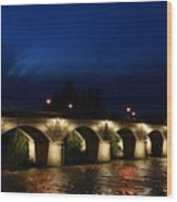 Night In Amboise Wood Print