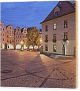 Night In City Of Jelenia Gora In Poland Wood Print